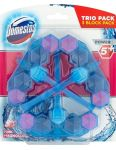 Domestos WC Power5 Blue 3x55g Water Pink