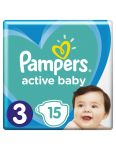 Pampers plienky Active Baby 15 ks  6-10kg